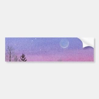 Lansing Moon & Stars Bumper Sticker