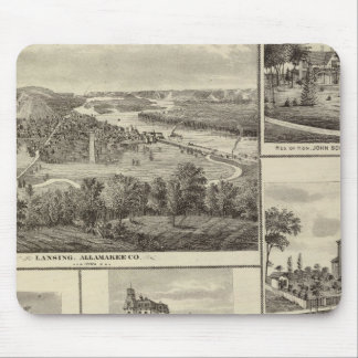 Lansing, Waukon, and residences in Nevada Mouse Pad
