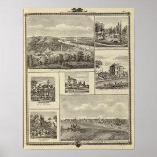 Lansing, Waukon, and residences in Nevada Poster