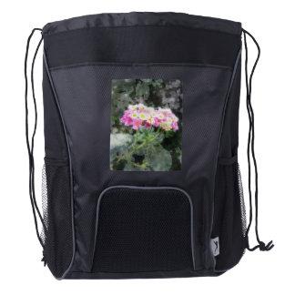 Lantana 2 Watercolor backpack Drawstring Backpack