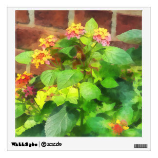 Lantana Against Brick Wall Wall Graphic