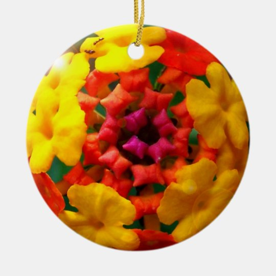Lantana bubble ornament