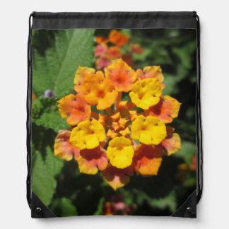 Lantana Desert Flower Drawstring Bag