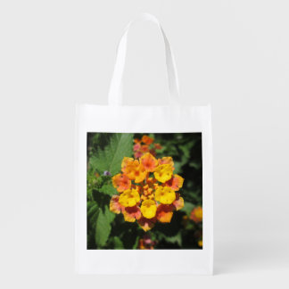 Lantana Desert Flower Reusable Grocery Bag