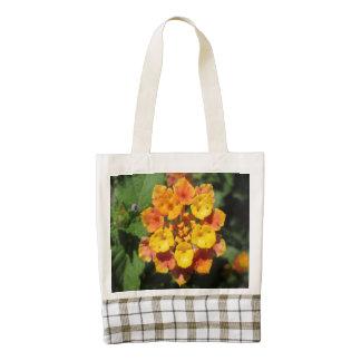 Lantana Desert Flower Zazzle HEART Tote Bag