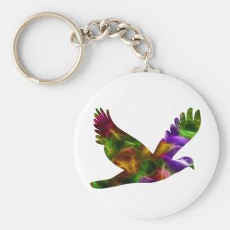 Lantana Dove Basic Round Button Keychain