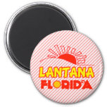 Lantana, Florida 2 Inch Round Magnet