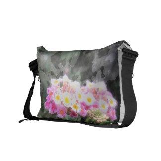 Lantana Flowers 2 Watercolor Courier Bag