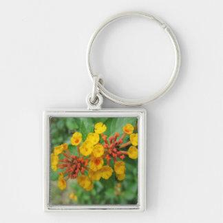 Lantana Garden Flower Yellow Key Chains
