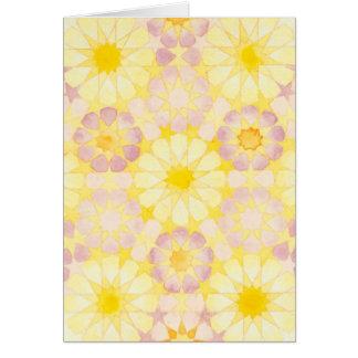 'Lantana' Islamic geometry greeting card