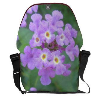 Lantana Plant Purple Floral Courier Bag