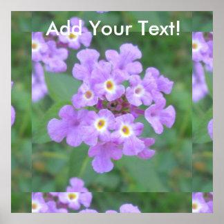 Lantana Plant Purple Floral Poster