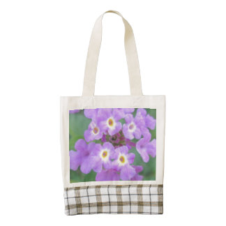 Lantana Plant Purple Floral Zazzle HEART Tote Bag