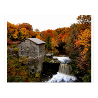 Lanterman's Mill in Autumn Postcard