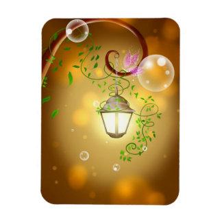 lantern-83659 CALIENTAN LA CABAÑA FAIRYTA de la Rectangle Magnet
