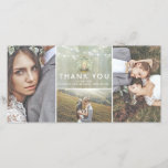 """Lantern and Baby&#39;s Breath Wedding Thank You<br><div class=""""desc"""">Iron lantern and white flowers rustic photo wedding thank you cards</div>"""