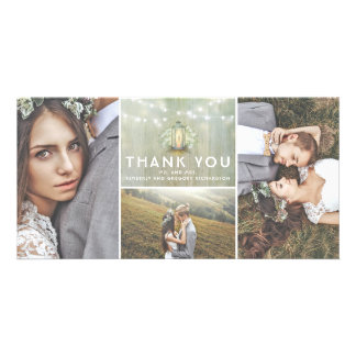 Lantern and Baby's Breath Wedding Thank You Card