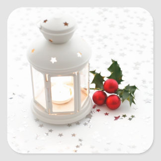 Lantern and Holly. Stickers