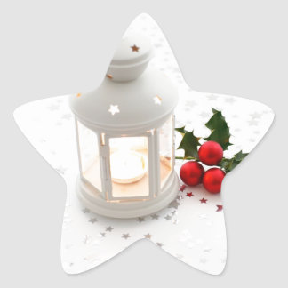 Lantern and Holly. Star Stickers