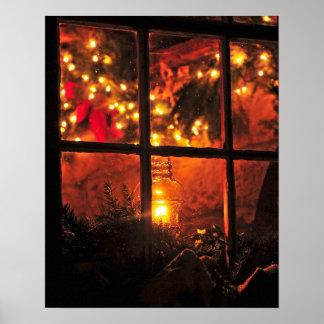 Lantern at Night Poster