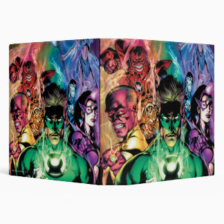 Lantern Corps Group with Colors 3 Ring Binders