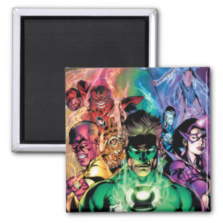 Lantern Corps Group with Colors Magnet