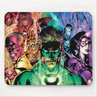 Lantern Corps Group with Colors Mouse Pad