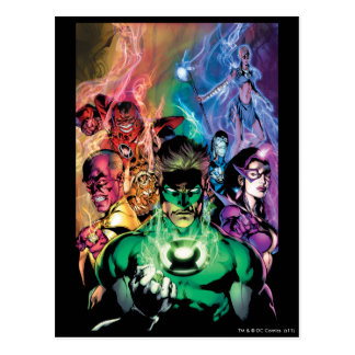 Lantern Corps Group with Colors Postcard