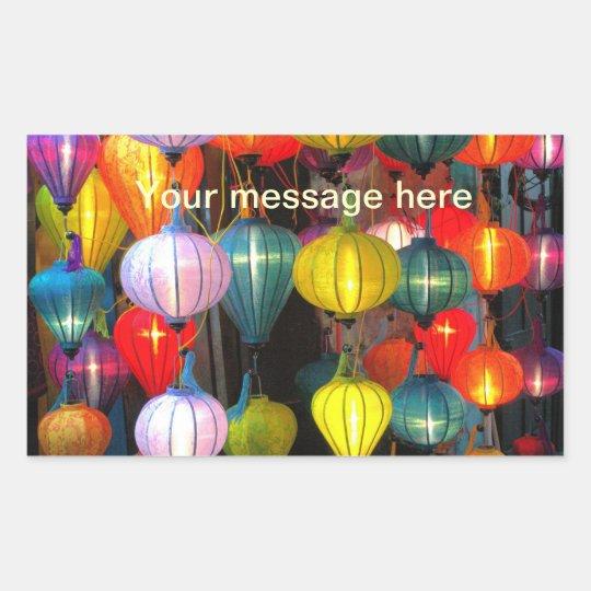 Lantern Festival Hoi An Vietnam Rectangular Sticker