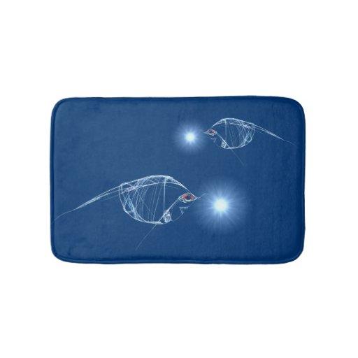 Lantern fish bathroom mat zazzle for Fish bath mat