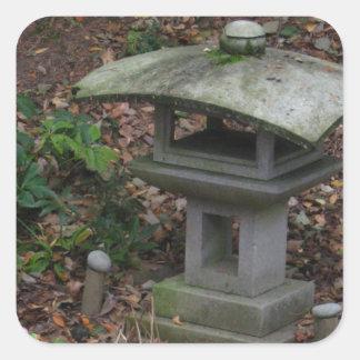 Lantern in Yashiro Japnese Garden Olympia WA Square Stickers