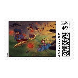 Lantern Ladies Postage Stamp