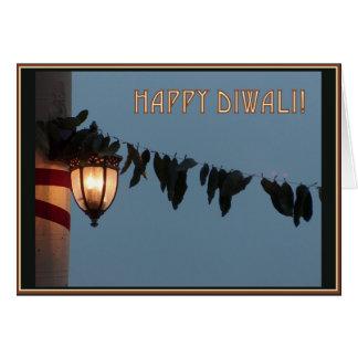 Lantern & Leaves Blank Diwali Card