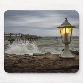 Lantern on the pier in Sassnitz (Germany) Mouse Pad