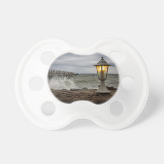 Lantern on the pier in Sassnitz Germany Pacifiers