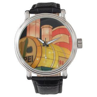 Lantern train wristwatch