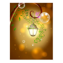 Lantern & Vines Postcard