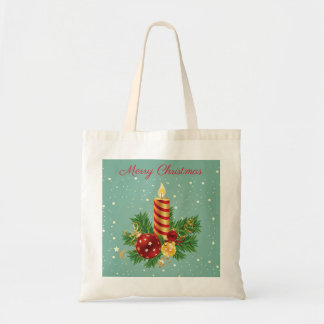 Lanterns Candle And Sparkles- Merry Christmas Tote Bag