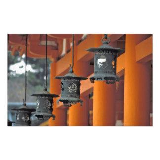 Lanterns hanging from the Heian-jingu Shrine, Photo Print