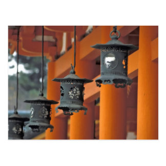 Lanterns hanging from the Heian-jingu Shrine, Postcard