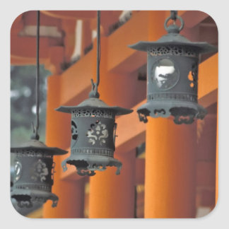 Lanterns hanging from the Heian-jingu Shrine, Square Sticker
