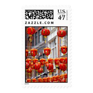 Lanterns in Chinatown, London Postage Stamp