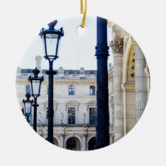 Lanterns, Lamp Posts in Paris, France Ceramic Ornament