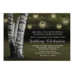 Lanterns   Rustic Birch Tree Wedding Invitations