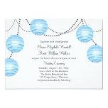 "Lanterns Wedding Invitation in Blue 5"" X 7"" Invitation Card"