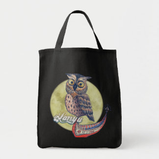 Lanyu Scops Owl with Traditional Canoe Tote Bag