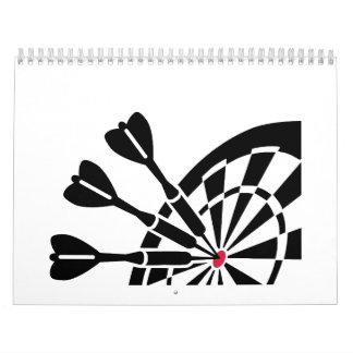 Lanza el dartboard calendarios