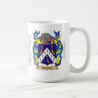 Lanza, el origen, el significado y el escudo taza clásica