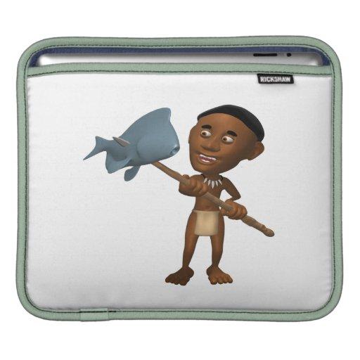 Lanza que pesca 2 funda para iPads
