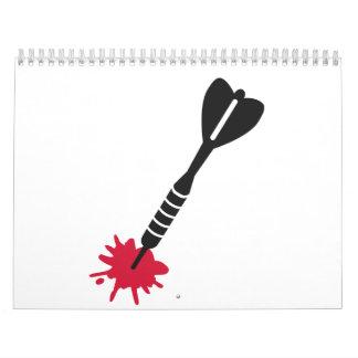 Lanza sangre calendarios de pared